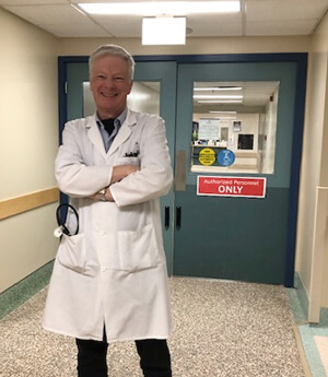 Dr. John Reda smiling after 30 years at Misericorida Health Centre