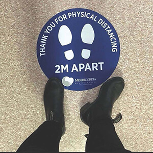 Stand 2M apart decal