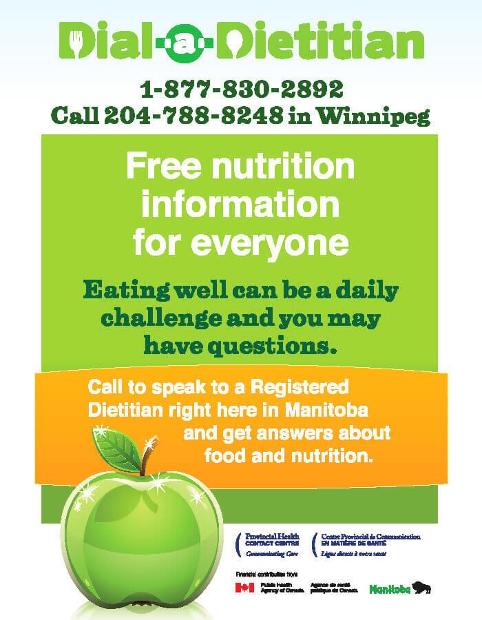 Dial a dietitian sticker