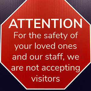 Suspension of TCU/Respite Care visitors