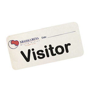 Visitor sticker